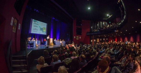 Concern Debate Finals in the Helix Theatre. Photo: Ruth Medjber / Concern Worldwide.
