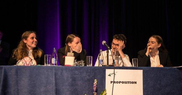St. Kilian's German School at the Concern Debate Finals 2018. Photo: Ruth Medjber / Concern Worldwide.
