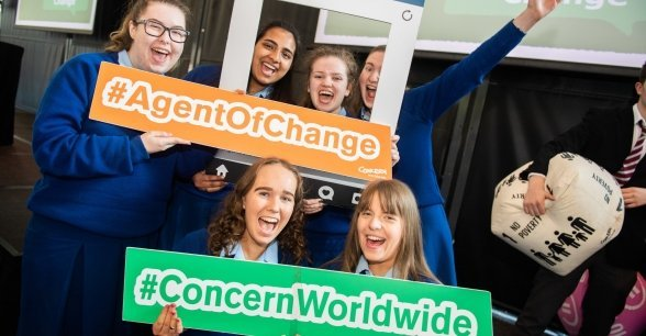 Maryfield College students at Agents of Change. Photo: Ruth Medjber/ Concern Worldwide.