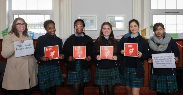 Pupils from secondary schools across Ireland, take part in a gender equality workshop in Dublin. Photo: Gavin Douglas / Concern Worldwide.