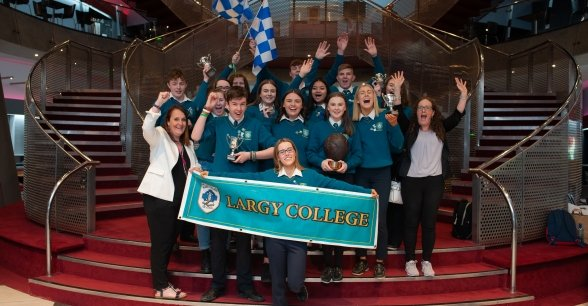 Concern Debates 2019 champions from Largy College, Monaghan. Photo: Camila Berto Gomes / Concern Worldwide.
