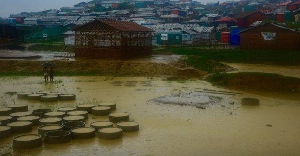 Monsoon rains in Cox's Bazar, Bangladesh. Photo: Concern Worldwide.