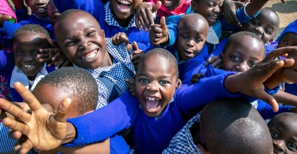 Kids from the Gatoto Community School in Nairobi. Photo: Gavin Douglas.