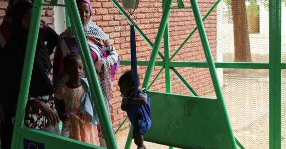 Our ECHO funded nutrition programme screens and treats malnutrition in children.