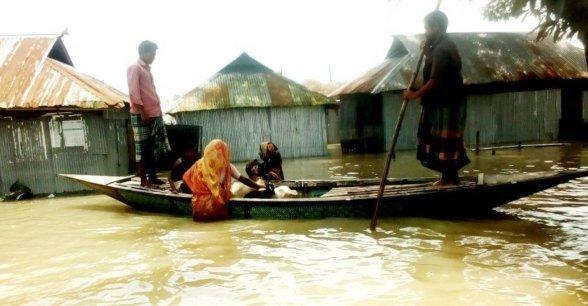 Flooding in Bangladesh.