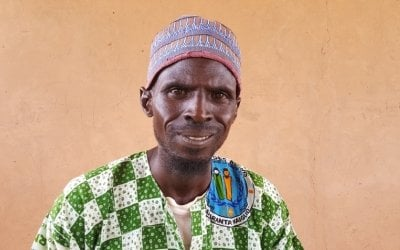 Ibrahim Abdou member of the Husbands School in Tahou, Niger. Photo: Ciara Hogan / Concern Worldwide.
