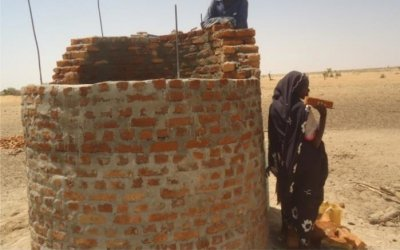 A hand-dug well under construction in Umdraba Village in Arafa, Republic of Sudan. Photo: Concern Worldwide.