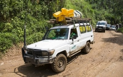 Concern teams reaching isolated communities in Masisi, DRC. Photo: Kieran McConville/ Concern Worldwide.