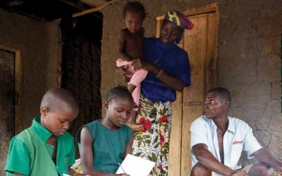 Amadu and Fatmata Turay with their children. Photo: Concern Worldwide.