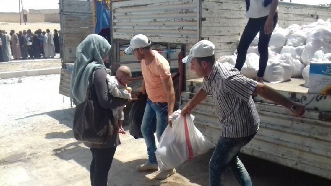 Food Basket distribution in  Syria. Photo: Concern Worldwide