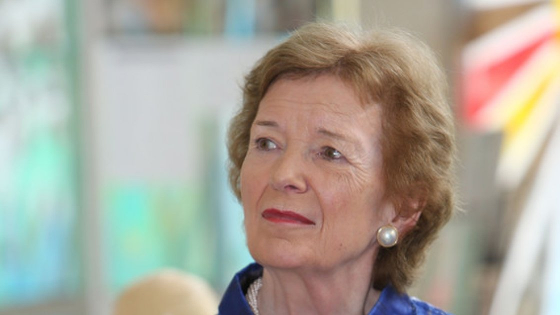 Former President of Ireland, Mary Robinson in Ethiopia with Concern, Goal and Trocaire.  Photo: Liam Burke