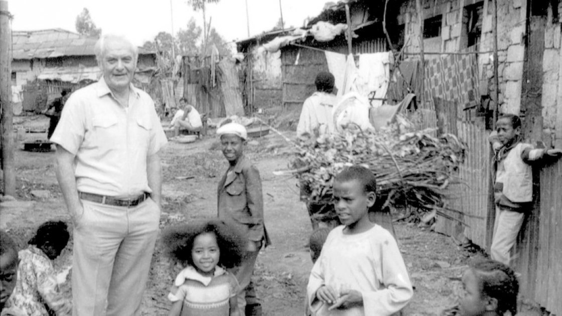 Fr Jack Finucane in Ethiopia. Photo: Concern Worldwide.