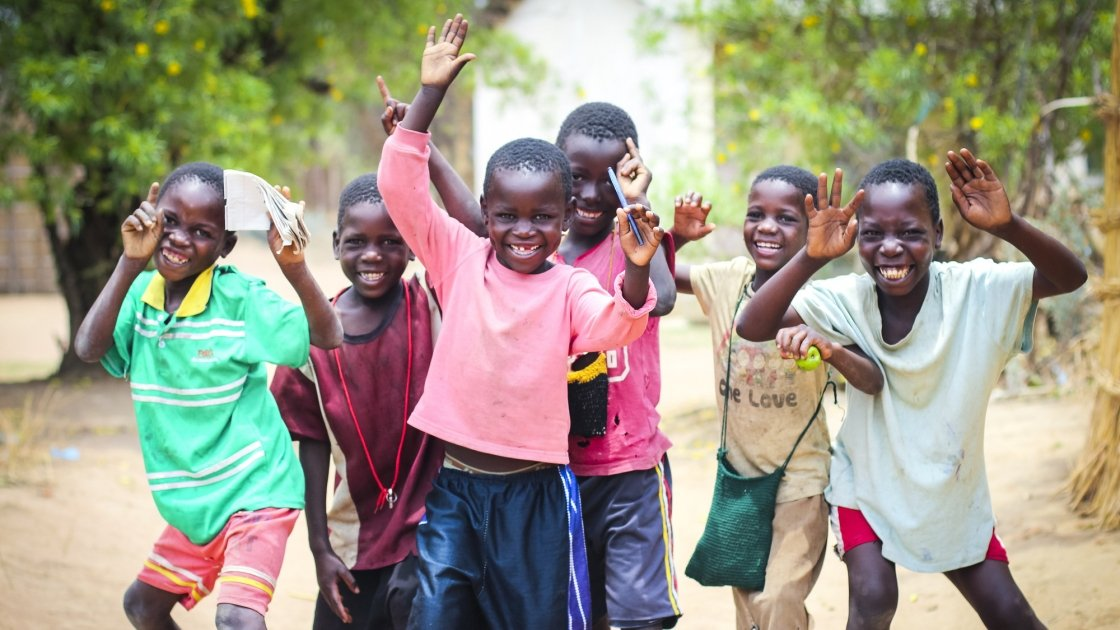 Children of the 'lead mothers' who are trained by Concern, Mchinji, Malawi. Photo: Jennifer Nolan / Concern Worldwide.