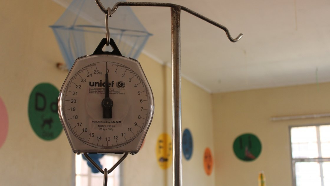 A Unicef scales at the health centre in Zulu, Mchinji district, Malawi. Photo: Aoife O'Grady/Concern Worldwide.