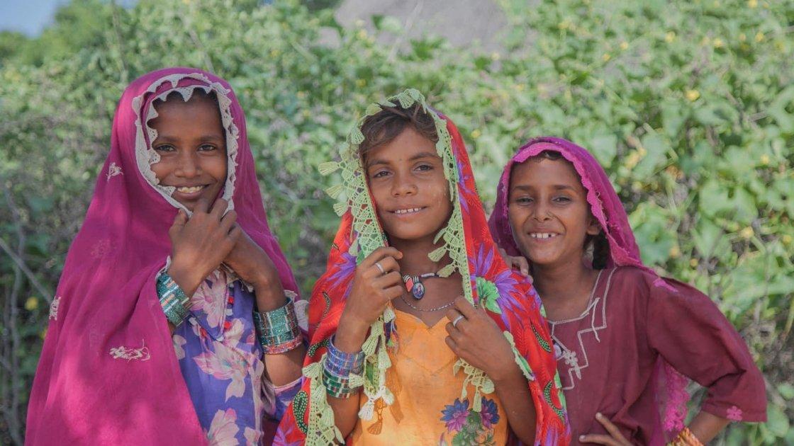 Raishma, Kawi, Niymat from Ropubheel village, Umerkot district, Pakistan. Photo: Concern Worldwide.