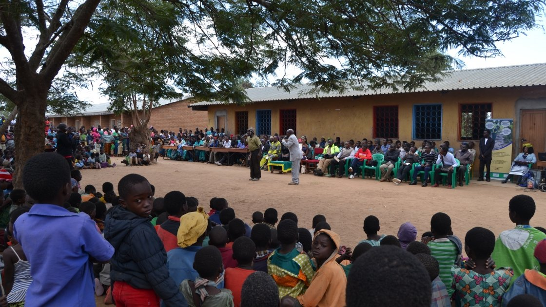 Students in Malawi learn about education and freedom from GBV.