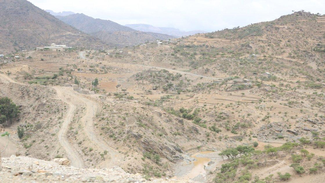 Arid landscape in Ethiopia.