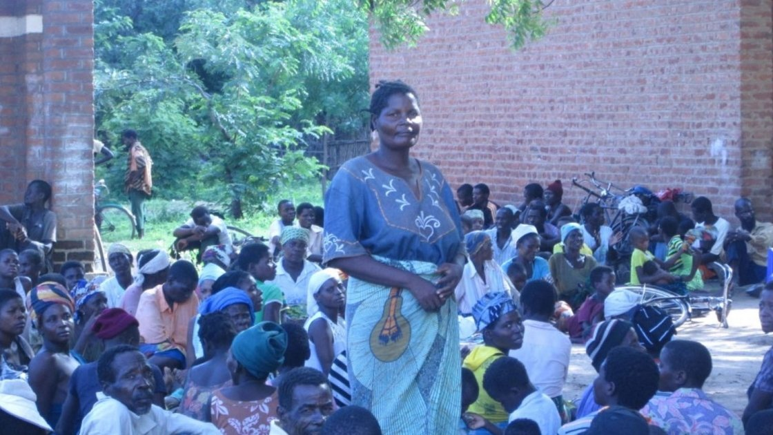 Eunice Makitchansi at Khulubvi camp for flood survivors in Nsanje district, Malawi