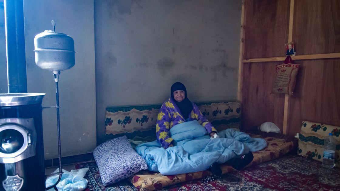 Esma* (82) in her garage home in Northern Lebanon.