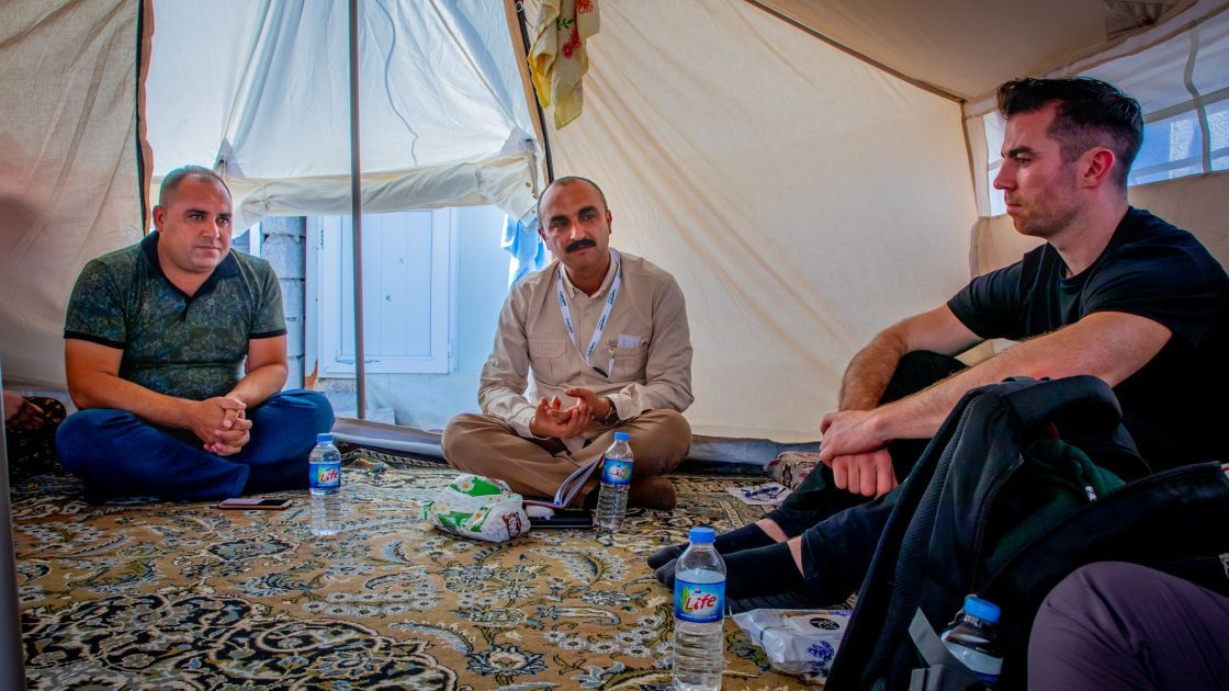 Michael Darragh Macauley meets Syrian refugees in Lebanon