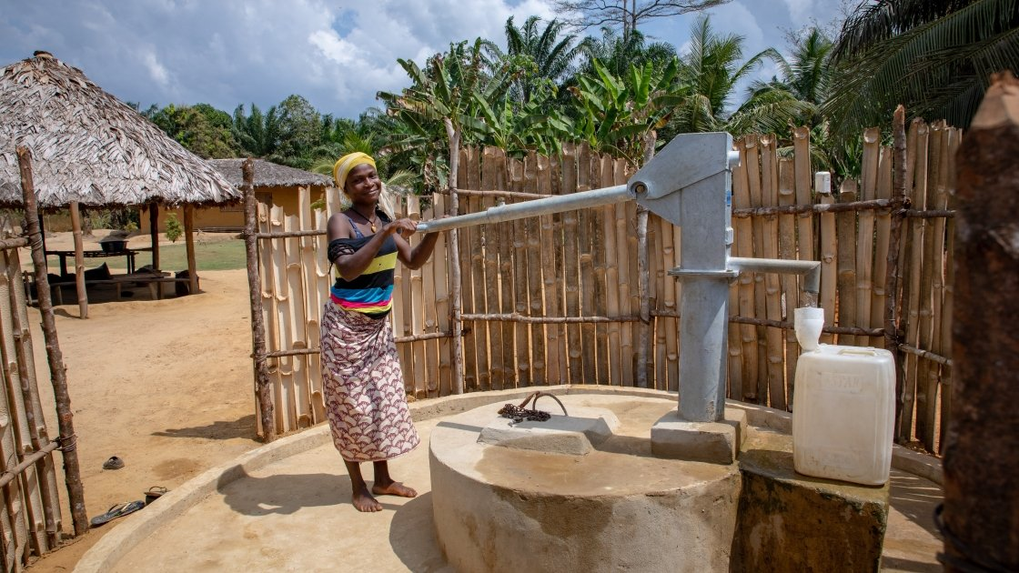 Hand dug well in Liberia Concern WASH programme