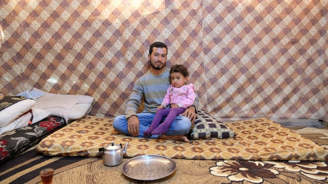 24-year-old Khalid has completed an accredited training course on plumbing supported by Concern. He hopes to start working soon as an apprentice so that he can provide for his family, including his two-year-old daughter Melissa. Photo: Darren Vaughan