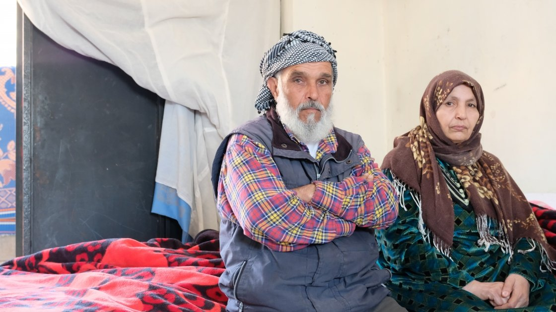 Wahid (66) and Sania (56) live in a petrol station storeroom. Concern has helped install windows, a toilet and electricity supply and negotiated a rent freeze for 12 months. Photo: Darren Vaughan