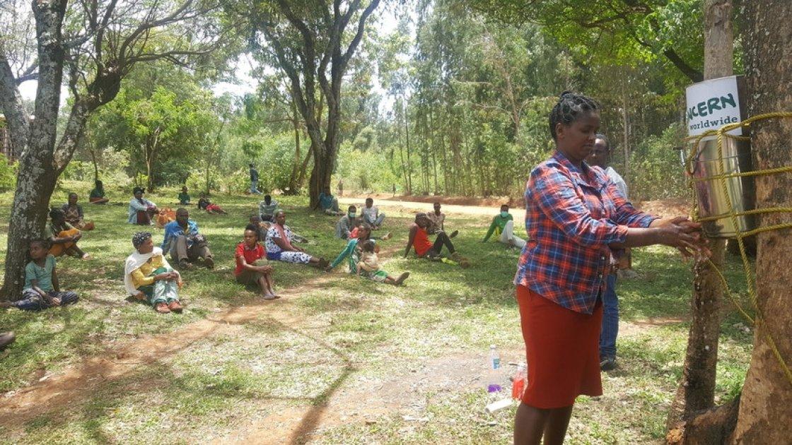 Handwashing demonstration in Ethiopia