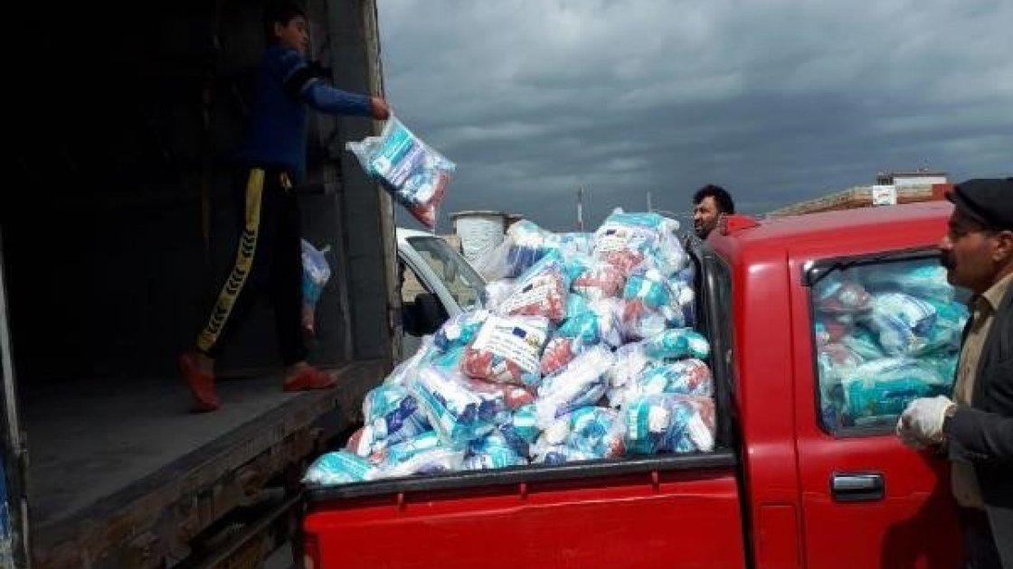 Distribution of COVID-19 prevention hygiene kits at Khankay IDPs camp, Dohuk, Kurdistan, Iraq