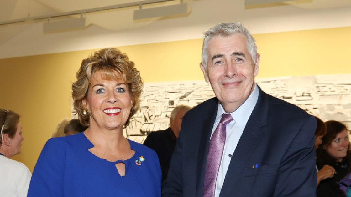 Geraldine Byrne-Nason with Dominic MacSorley
