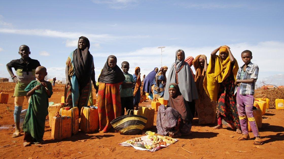 Relocated IDPs in Baidoa, 2019. Photo: Hyungbin Lim / IOM Somalia.