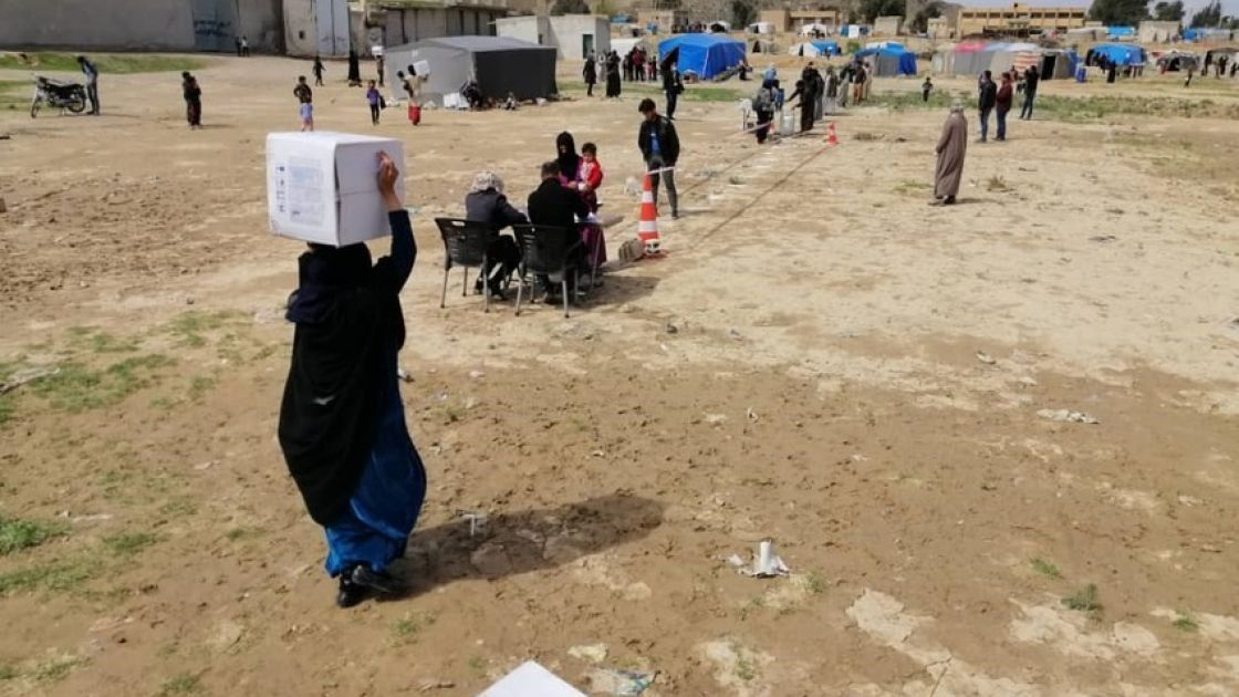 Concern distributing hygiene kits in Northern Syria