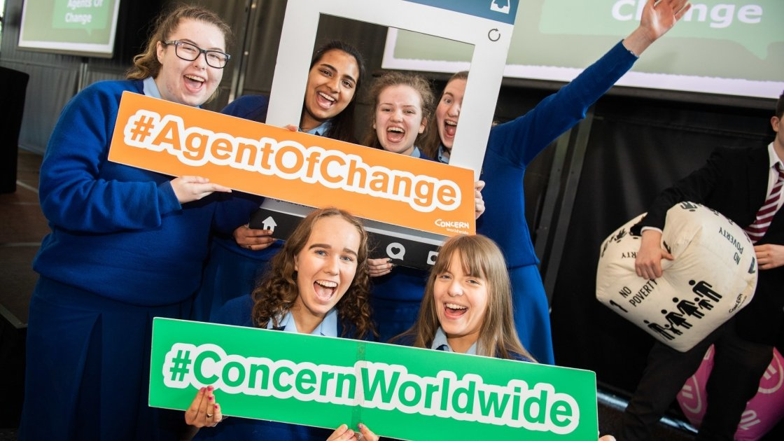 Maryfield College students at Agents of Change. Photo: Ruth Medjber/ Concern Worldwide