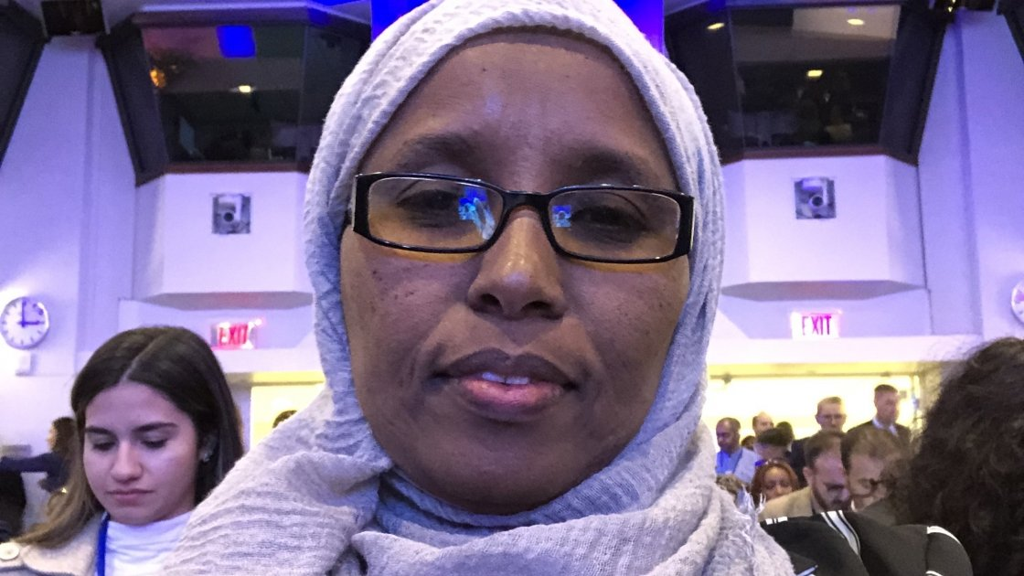 Fouzia Mohamad of GREDO at the World Bank annual conference in Washington DC.