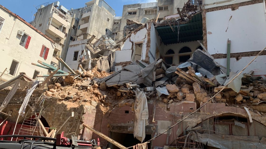 The remains of a building after the explosion in Beirut on August 4. Photo: Concern's Alliance 2015 Partner ACTED