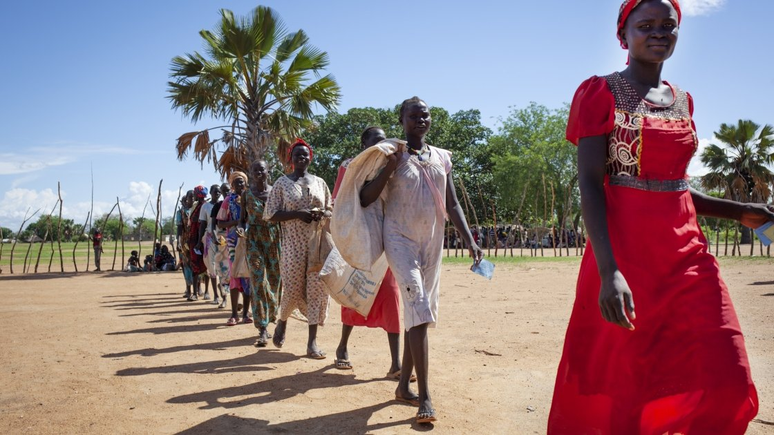 South Sudan Women Walking