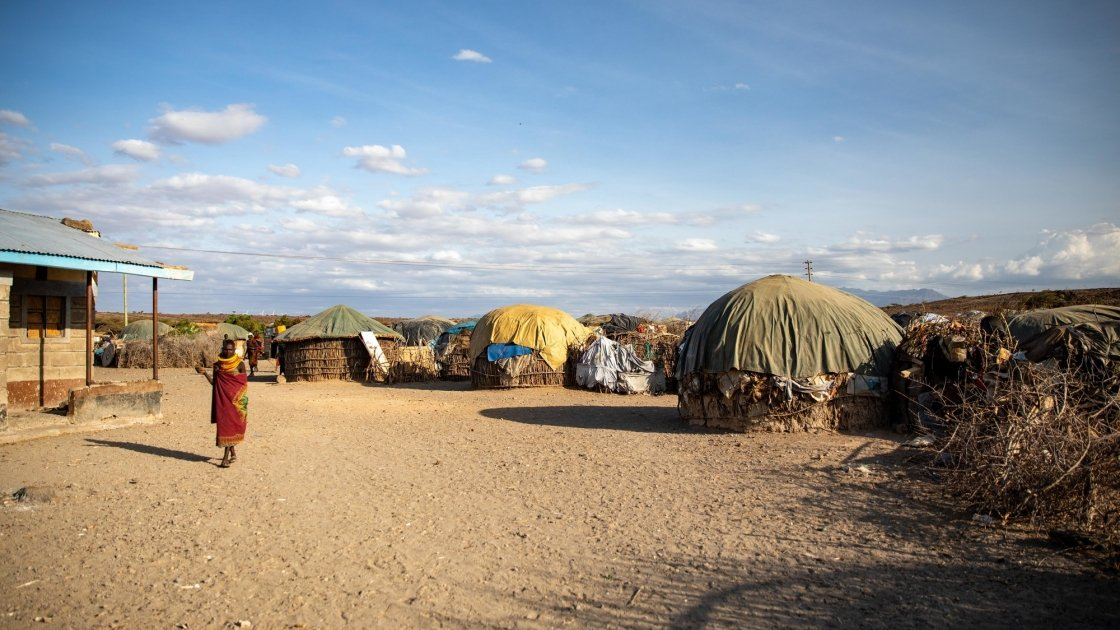 An arid landscape in Sarima village in Kenya.