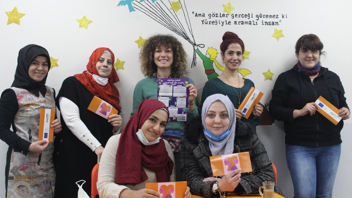 Concern staff attending an event marking the 16 Days of Activism Against Gender Based Violence, December, 2020. Photo: Rolla Bitar.