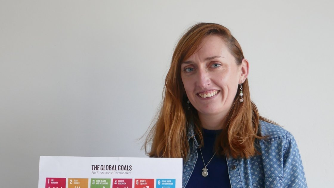 Project Us digital café coordinator with Concern Worldwide, Aimée Vaughan. Environment saving ideas to be discussed on February 17 and 24.