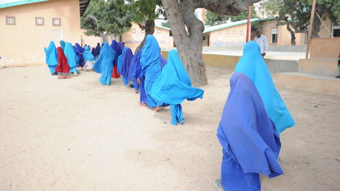 Girls attending school in Somalia. Photo: Mohamed Abdiwahab / Concern Worldwide