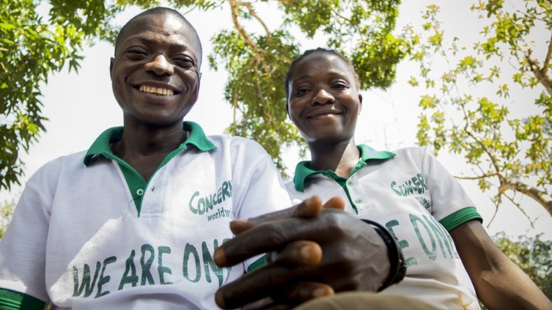 Mulbah Walewula and his wife, Kabah Kalama, who are equality change makers in Liberia. Photo: Kieran McConville / Concern Worldwide.
