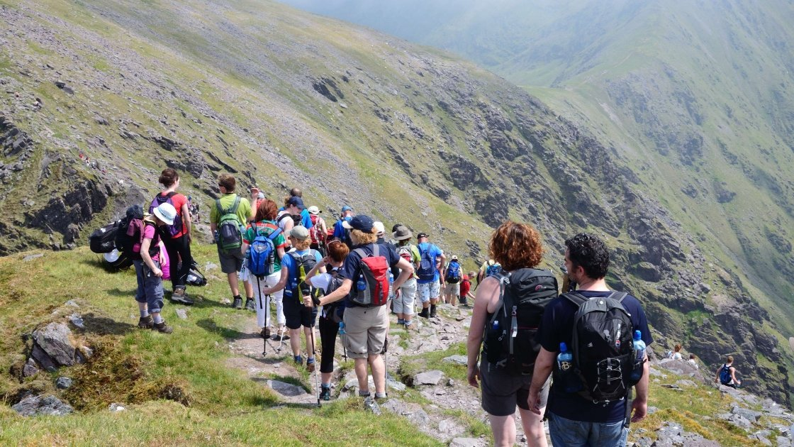 Concern fundraising hikers on Carrauntoohil. Photo taken by Andrew Egan.