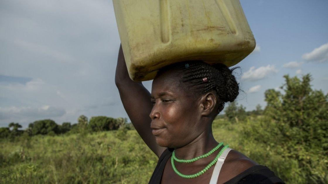 Santina Lalam, a farmer from Agago in Uganda. Credit: Alexia Webster/Concern Worldwide.