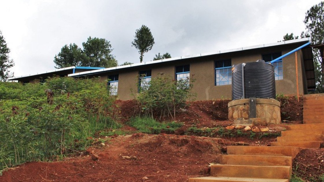 The newly rebuilt Mpinga Primary School in Mabayi Commune, Cibitoke Province, Burundi. The project was funded by Bank of Ireland and managed by Concern Worldwide. Photo taken by: Irenee Nduwayezu / Concern Worldwide.