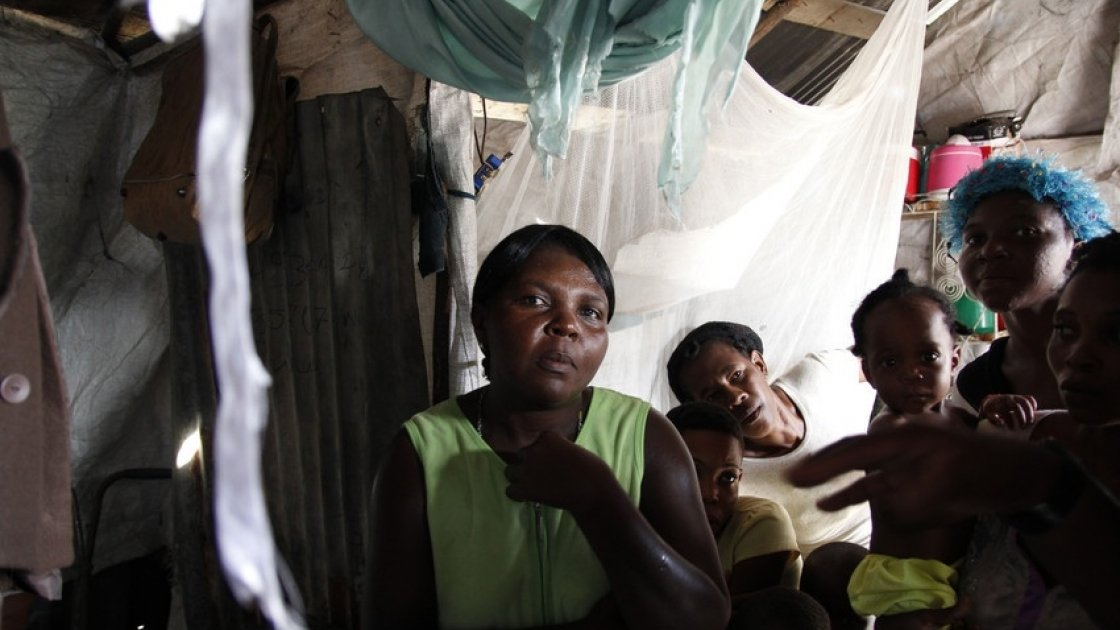 Jeantisse Michelin lives in the Ti Ayiti neighborhood of the Cité Soleil slum with her husband and five children, aged 5 to 19 years old. Photo: Kristin Myers / Concern Worldwide.