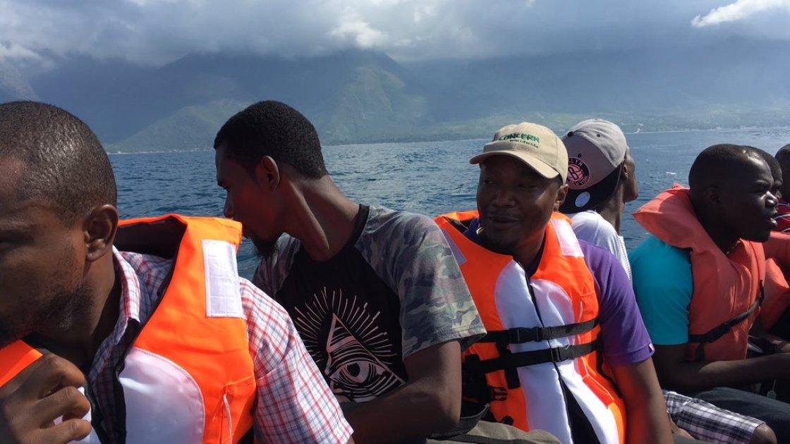 Concern Haiti emergency team on their way to La Gonave to respond to Hurricane Matthew. Photo: Peter Doyle/Concern Worldwide.