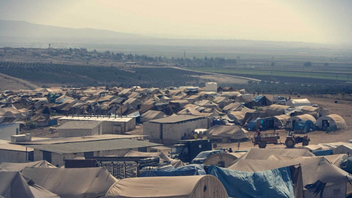 A Syrian refugee camp near the Turkish border, September 2013. Photo taken by Giovanni Diffidenti for Concern Worldwide.