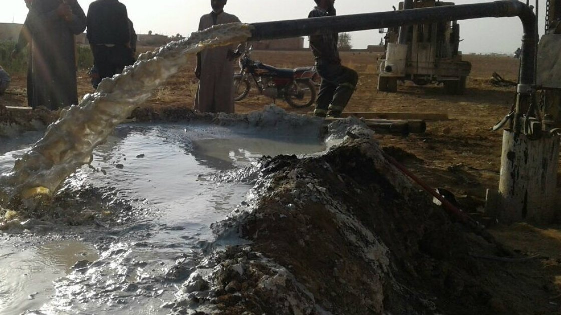 The Concern team repair a borehole to ensure Syrian households have access to clean drinking water. Photo: Concern Worldwide.