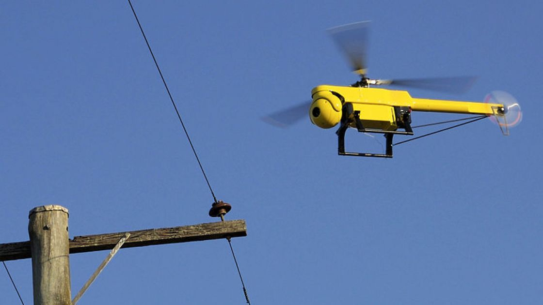 Drone developed to inspect powerlines, bridges, buildings and cooling towers with minimal guidance. Photo courtesy of CSIRO.