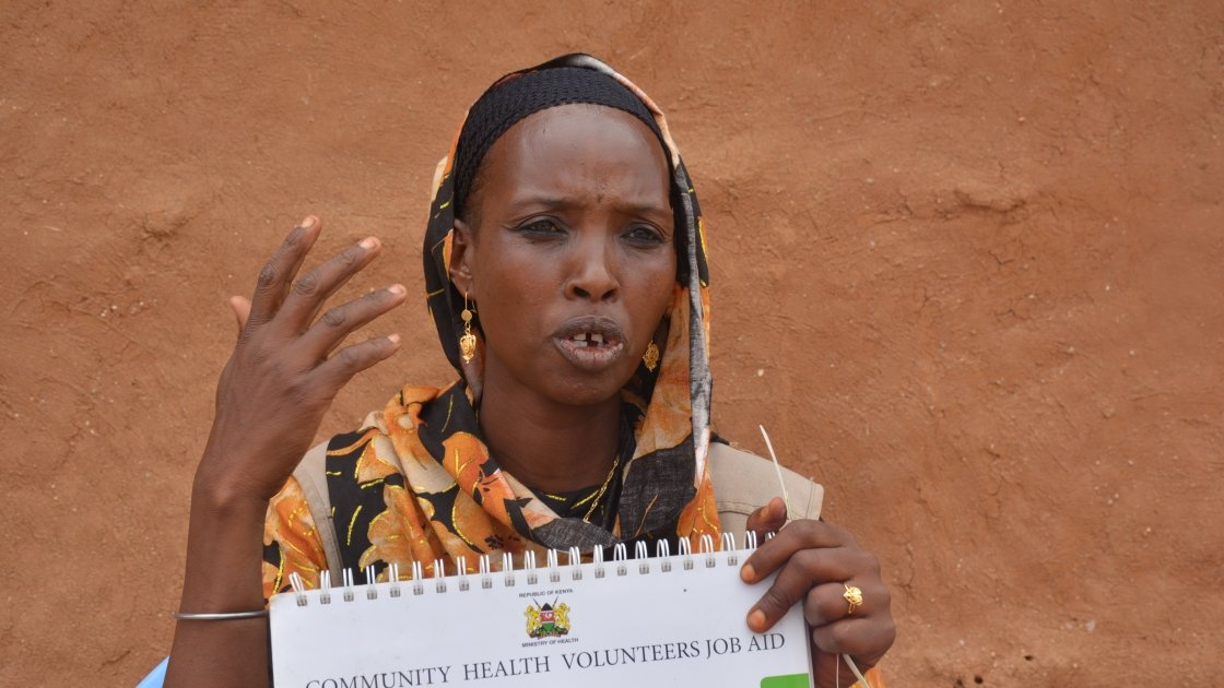 Halima is a Community Health Volunteer (CHV) trained by Concern in Kenya. Photo: Concern Woeldwide.